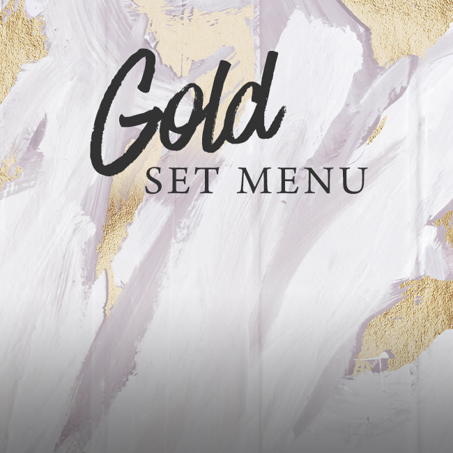 Gold set menu at The Hand & Sceptre