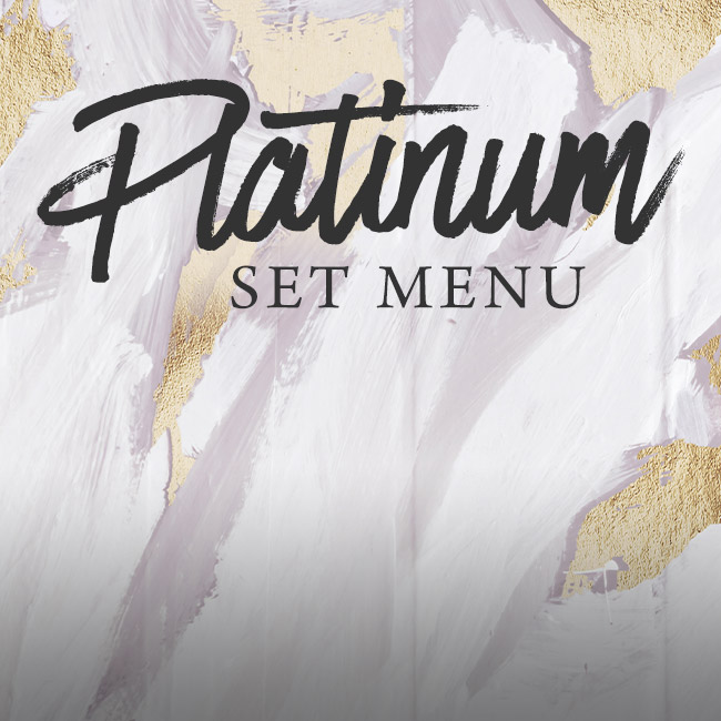 Platinum set menu at The Hand & Sceptre