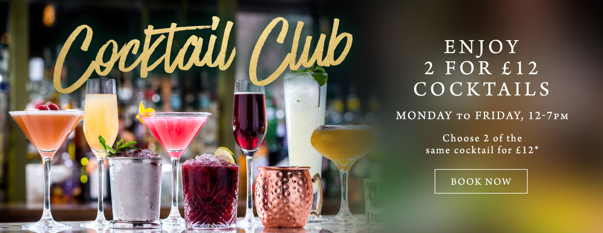 2 for £12 cocktails at The Hand & Sceptre